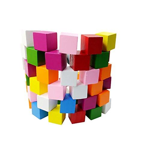 MagiDeal 25/50 Stück sortierte Farbe Holzblöcke Holzwürfel Verzierungen für Handwerk - 25 Stück, 20mm