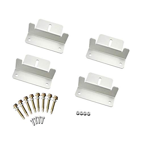Solar Panel-mounting Mount Accessories Flat Roof Wall Kit Bracket Screws Nuts Flat-panel-mount-adapter