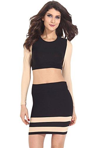 E-Girl femme Noir SY21087 robe de cocktail Noir