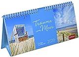 Träume vom Meer 2020: 3-teiliger Tischkalender mit Monatskalendarium -