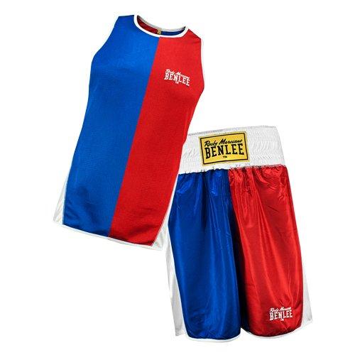 Reversible Set (BENLEE Rocky Marciano Oberteil Amateur Boxing Reversible Set Brandford, Rot/Blau, S, 190041)
