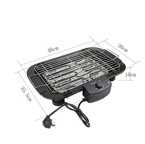 KKUT Barbecue-Grill (1.000W, Tischgrill, Grillfläche (48 x 30cm)) schwarz