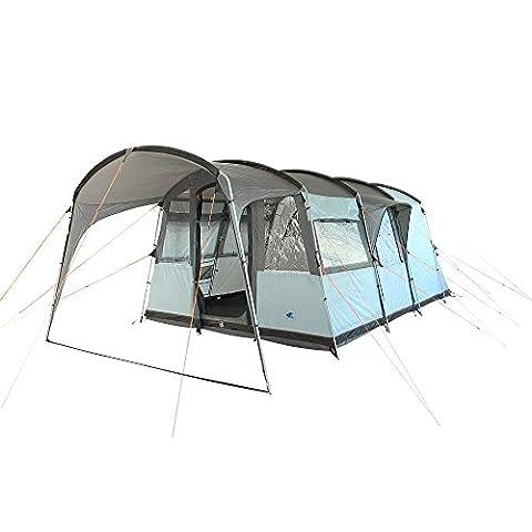 10T Camping-Zelt Bateman 4 Tunnelzelt mit Schlafkabine für 4 Personen Outdoor Familienzelt mit Wohnraum Steilwandzelt mit Sonnendach, eingenähte Bodenwanne, wasserdicht mit 5000mm Wassersäule