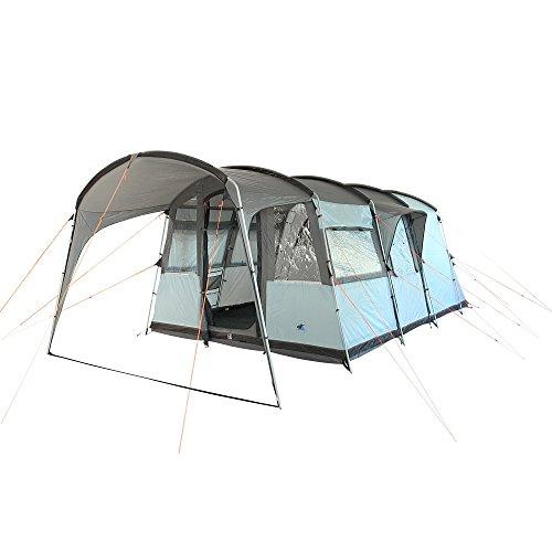 10T Zelt Bateman 4 Mann Tunnelzelt 5000mm Campingzelt wasserdichtes Familienzelt Bodenwanne Vordach
