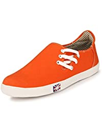 SGTS Stylish Side Lace Orange Casual Shoes For Men