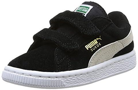 Puma, Sneakers Basses mixte enfant, Noir (Black/White), 23
