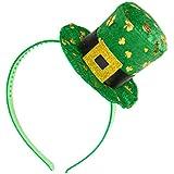 Diadema de mini sombrero San Patricio adulto - Única