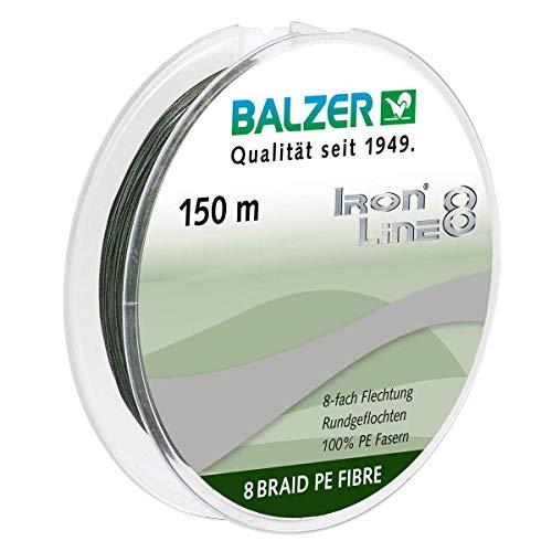 Balzer Iron Line 8-fach geflochtene Angelschnur grün (0,10 mm)