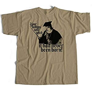 MMbvc Inspired by Blackadder T Shirt Baby Eating Bishop of Bath & Wells Cult TV Comedy