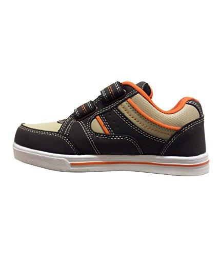 Kinder Unisex Klettverschluss Turnschuhe Jungen Mädchen Sportswear Schuhe Orange