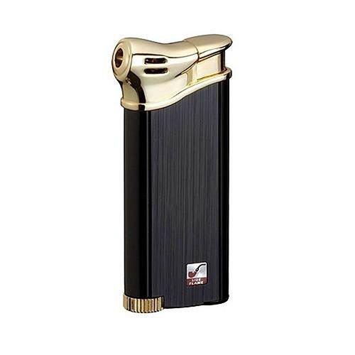 Feuerzeug Sarome PSP 3-13 für Pfeifen aus Metall Lack in schwarz matt gold glänzend