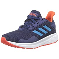 Adidas DURAMO 9 K, Unisex Kids' Sneakers, Blue (Dark Blue/Shock Cyan/Active Orange), 11.5 UK, (30 EU),F35107