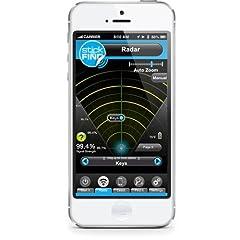 Idea Regalo - SticknFind - Adesivi per il tracking Bluetooth di iPhone e smartphone, confezione da 2, colore: Nero