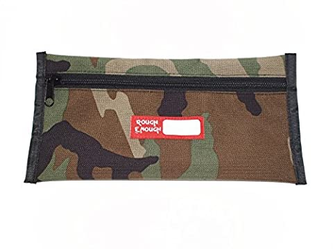 Rough Enough Simple Pencil Pouch 5 X 10 In (Camo) by ROUGH ENOUGH