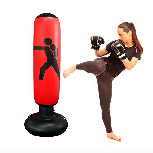 JanTeel Saco de Boxeo, Boxeo Inflable autoportante Aptitud Objetivo Bolso del Soporte de la Torre, MMA...