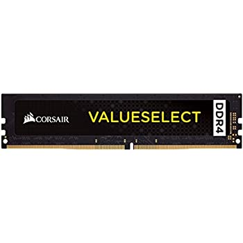Corsair DDR4 Value Select - Tarjeta de Memoria de 8 GB, Color Negro