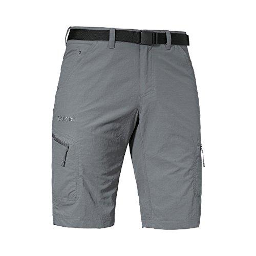 Schöffel Shorts Silvaplana2 Herren Hose, vielseitige Wanderhose mit separatem Gürtel, komfortable Outdoor Hose mit praktischen Taschen, grau,60 -