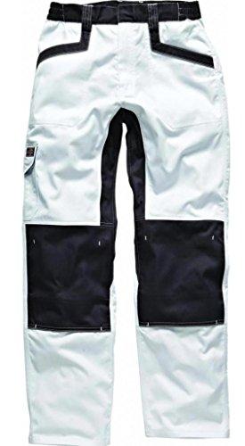 Maler Hose Baumwolle (Dickies Arbeitshose Bundhose Industry 260 IN1001 robust  Weiss/Grau Gr.48)