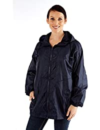 Womens Ladies Rainwear Coat Waterproof Kag In A Bag Jacket 269f31855cf26
