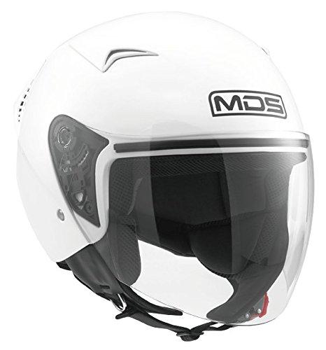 AGV Helmets Casco Jet G240 MDS E2205 Solid, color Blanco, talla L