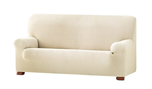 Eysa Cora bielastisch Sofa überwurf 3 sitzer Farbe 00-Ecru, Polyester-Baumwolle, 36 x 27 x 17 cm