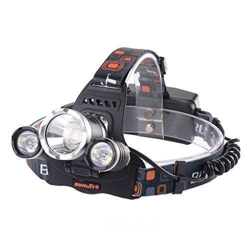 XCSOURCE® 6000LM 3x CREE LED Scheinwerfer Wasserdicht LED Kopflampe LED Kopfleuchten Stirnlampe L2 2X Wiederaufladbarer Blitz 18650 Batterie Handwerkzeuge für Laufen, Höhlenforschung, Joggen, Camping, Wandern usw LD386