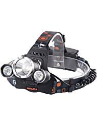 XCSOURCE® 6000LM 3x CREE LED Headlamp Headlight Lampe torche frontaleL2 2X 18650 Batterie Rechargeable LD386
