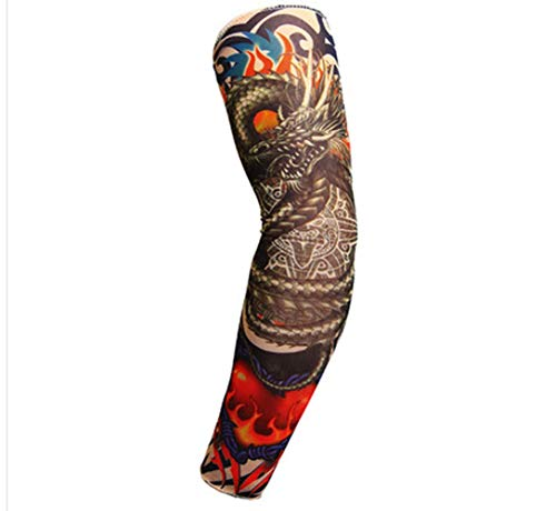 Fliyeong Armstulpen Blume Arm Tattoo Ärmel Nahtlos Outdoor Reiten Tattoo Sonnencreme Manschette Reiten Tattoo Praktisch
