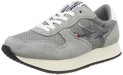 Hilfiger Denim Damen Tommy Jeans Star Sneaker, Grau (Light Grey 004), 41 EU