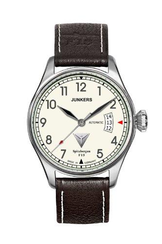 Junkers 6164-5 - Orologio da polso da uomo, cinturino in pelle colore nero