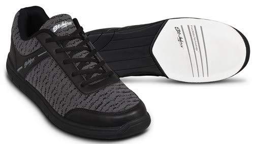 EMAX KR Strikeforce Flyer Bowling-Schuhe Damen und Herren, für Rechts- und Linkshänder in 4 Farben Schuhgröße 38-48 wahlweise mit Schuh-Deo Titania Foot Care (Mesh Schwarz ohne Spray, US 6,5 (39))