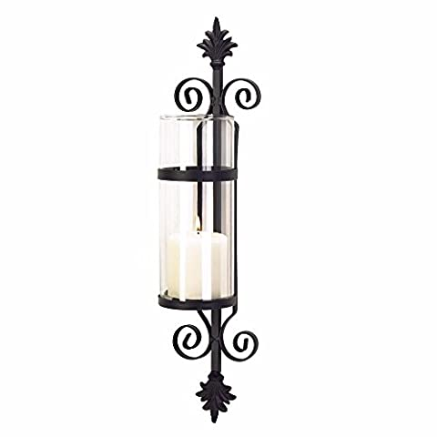 Ornate Scroll Votive Candle Holder Wall Art Sconce Tuscan Home Decor Accent
