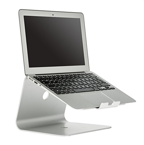 Slabo Notebookhalterung Laptopständer für MacBook/MacBook Air/MacBook Pro/Notebooks Aluminium - Silber -