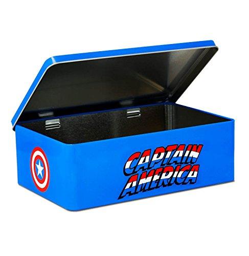 Caja Capitán América - Escudo - Lata de metal Marvel Comics - Captain America - Shield - coloreado - Diseño original con licencia - Logoshirt
