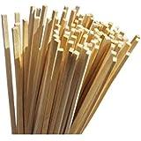 TWB Lot de 100 bâtonnets de bonbons traditionnels en bois - 28 cm