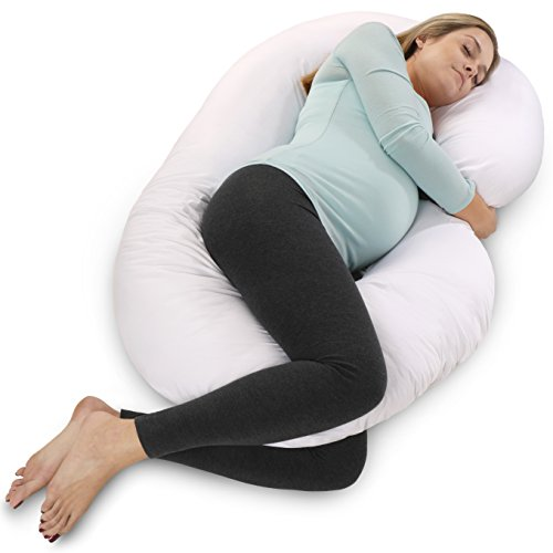 PharMeDoc Total Body Pillow - The World's MOST Comfortable Maternity / Pregnancy Cushion - With Zipper - Full Contoured Support System, Side Sleeper, Nursing, Snuggle by PharMeDoc