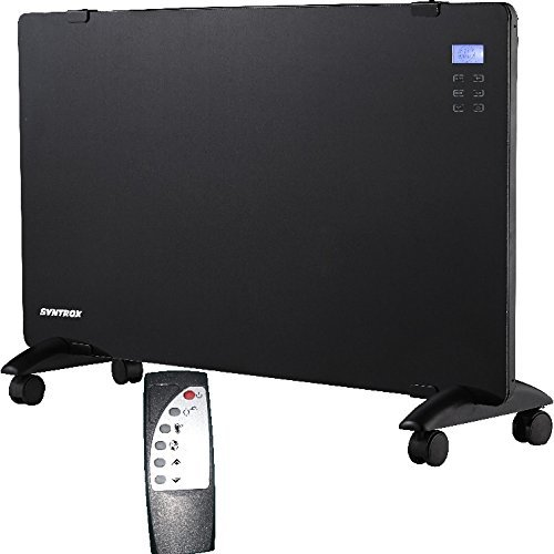 Syntrox Germany PH-2400W Digitales Glasflächenheizgerät mit Touch Screen Display Heizgerät