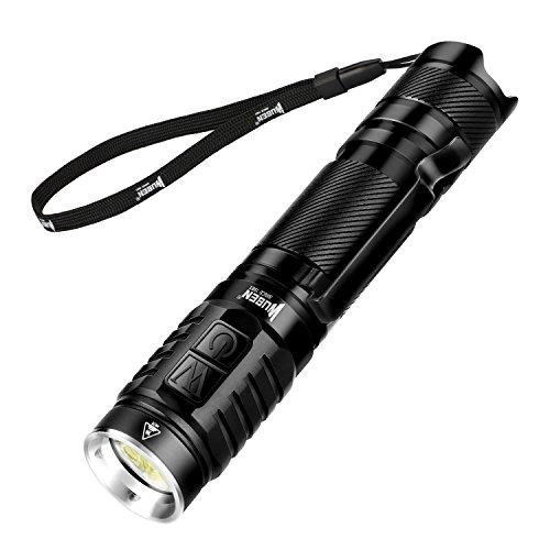 WUBEN Lampe Torche Tactique LED Puissante, Lampe de Poche Rechargeable USB, Lampe Torche Militaire...
