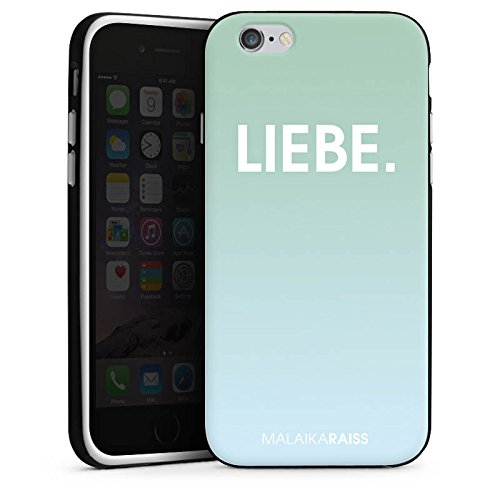 Apple iPhone X Silikon Hülle Case Schutzhülle Liebe Mint Farbverlauf Silikon Case schwarz / weiß