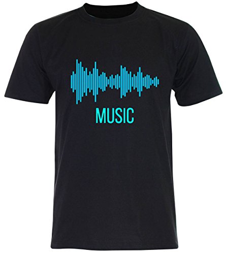 PALLAS Unisex's Sound Music Equalizer T Shirt Black