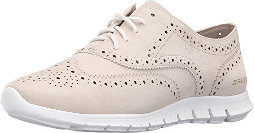Cole Haan Zerogrand Wing-tip Oxford Ivory Suede