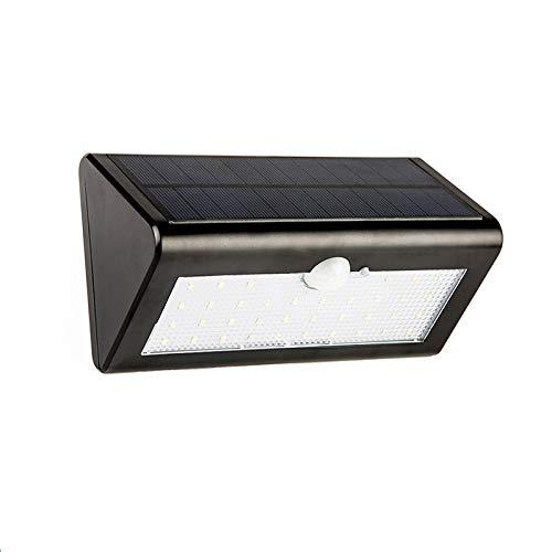 GJJ Solar Licht - Outdoor Menschlicher Körper Sensor Wandleuchte Garten Garten Integrierte Straßenlaterne - LED-Licht,schwarz,Warmes Licht