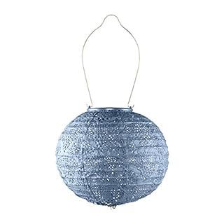Allsop Home & Garden 32026 Solarlaterne für den Außenbereich, 20 cm, Metallic Blau