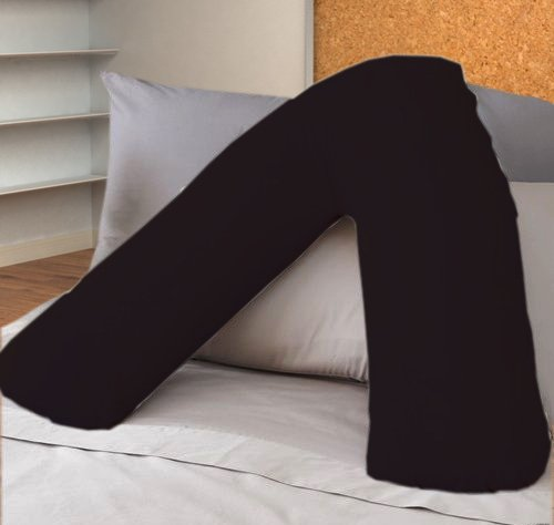 ||jaaz textile|| _ _ negro Color _ _ V forma de almohada casos de percal calidad apoyo polialgodón...