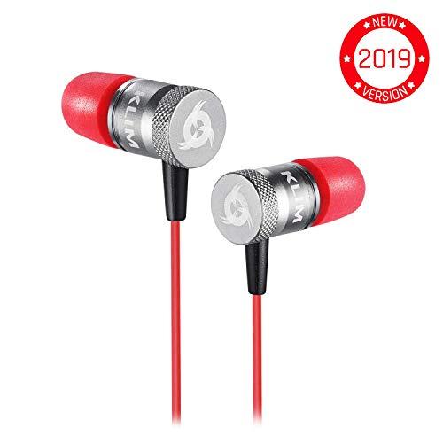 ⭐️KLIM™ Fusion Audio Kopfhörer - Langlebig + 5 Jahre Garantie - Innovativ: In-Ear-Kopfhörer mit Memory Foam [ Neue 2019 Version ] Rot