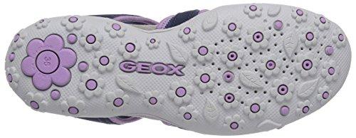 Geox JR SANDAL ROXANNE C, Sandale fille Bleu - Blau (NAVYC4002)