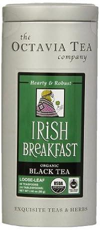 Octavia Tea Irish Breakfast (Organic Black Tea) Loose Tea, 2.82-Ounce Tin