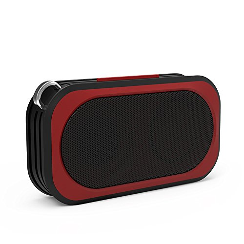 Proxelle - Mini Altavoz Bluetooth Impermeable Waterproof IP67 Bafles Portátiles Wireless Sin cables Resistente Al Agua Manos Libres Micrófono para Android iPhone PC Laptop, Rojo