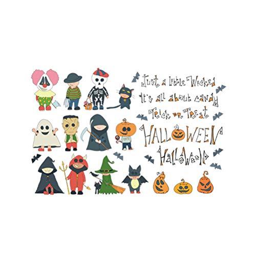 eine Person Decor Wandaufkleber Scary Kürbis Hexe Wizard Ghost Bat Kinderzimmer Küche Kleiderschrank Kühlschrank Aufkleber ()