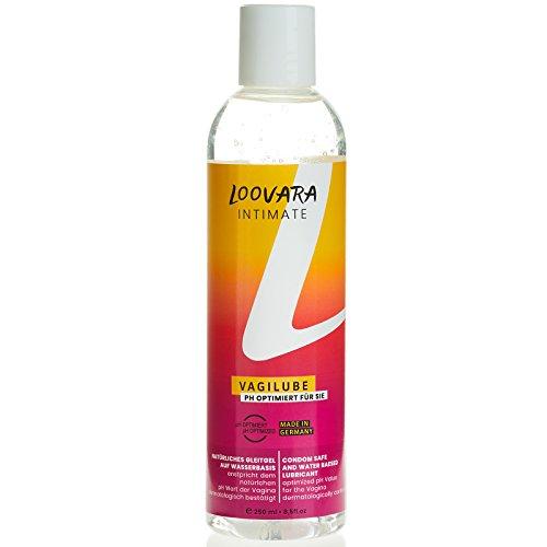 Loovara Gleitgel Vagilube (250ML) mit optmierten pH Wert für die Vagina, Gleitmittel auf wasserbasis, dermatologisch bestätigt, geruchsneutral, fettfrei, für empfindliche Haut geeignet